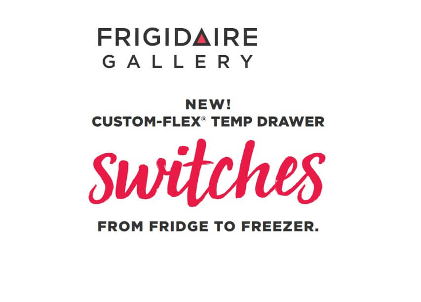Custom-Flex Temp Drawer switches from fridge to freezer